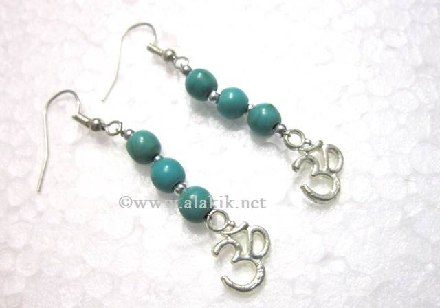 Tourquie Beads Earring with Om
