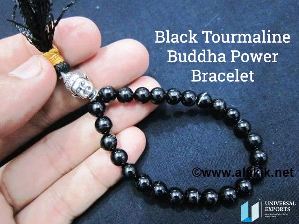 Black Tourmaline Buddha Power Bracelet From Alakik Universal Exports